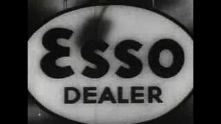 ESSO GAS STATIONS.  1938 Service Station Commercial for Theaters.