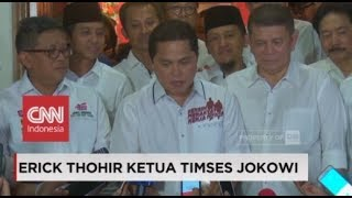 Video Ditunjuk Jadi Ketua Timses Jokowi, Ini Kata Erick Thohir MP3, 3GP, MP4, WEBM, AVI, FLV November 2018