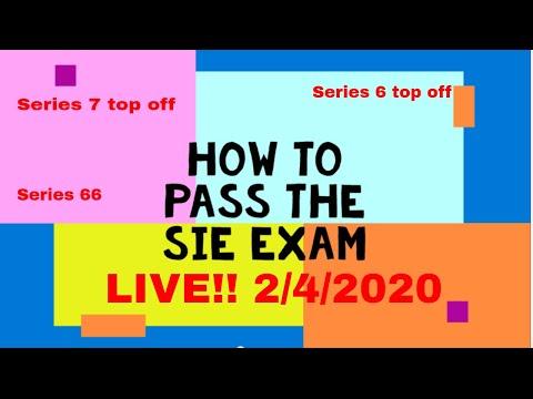 Series 7 exam and SIE exam  Live Q & A  Feb 4 2020