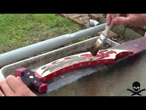 tuto fabriquer un sabre de pirate en bois