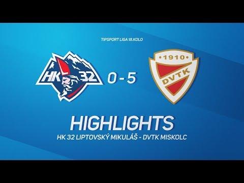18. forduló: Mhk32 Liptovsy Mikulas - DVTK Jegesmedvék 0-5