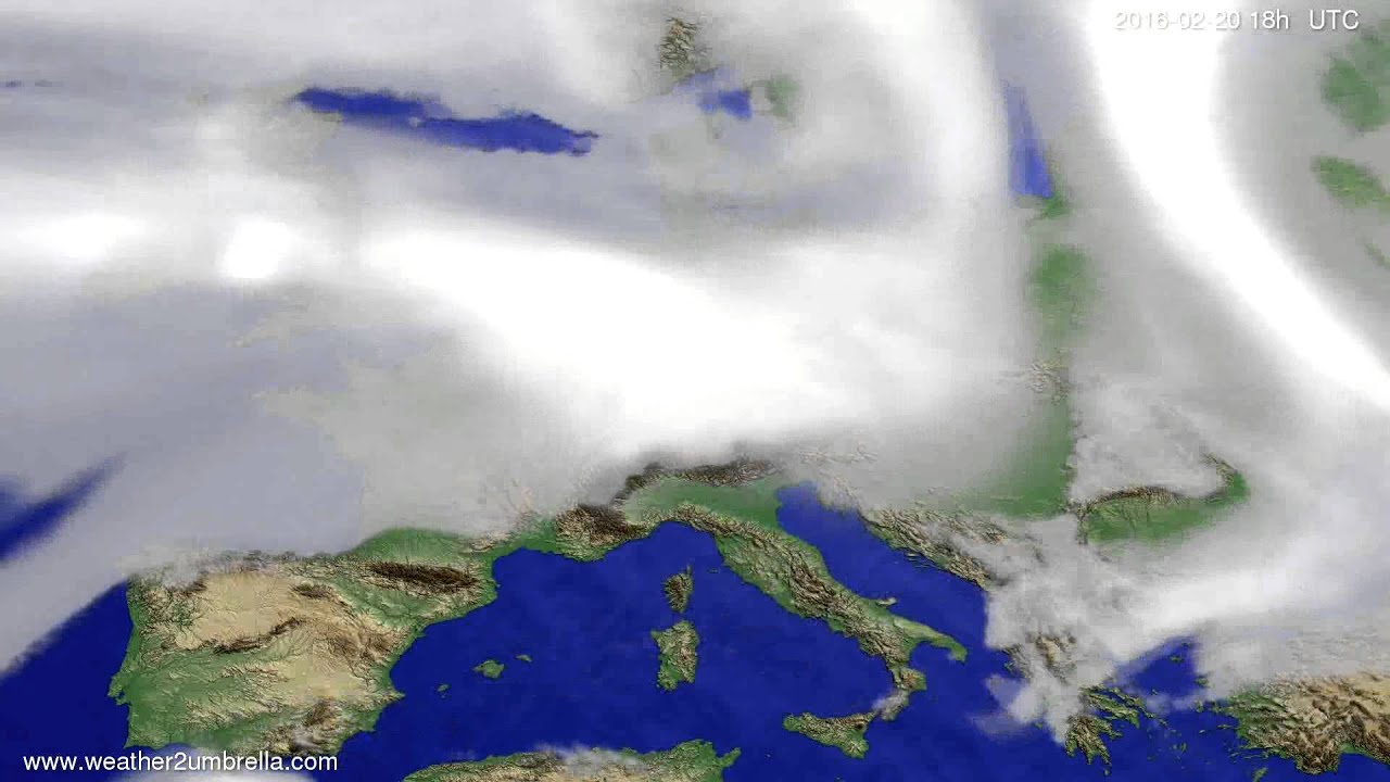 Cloud forecast Europe 2016-02-17