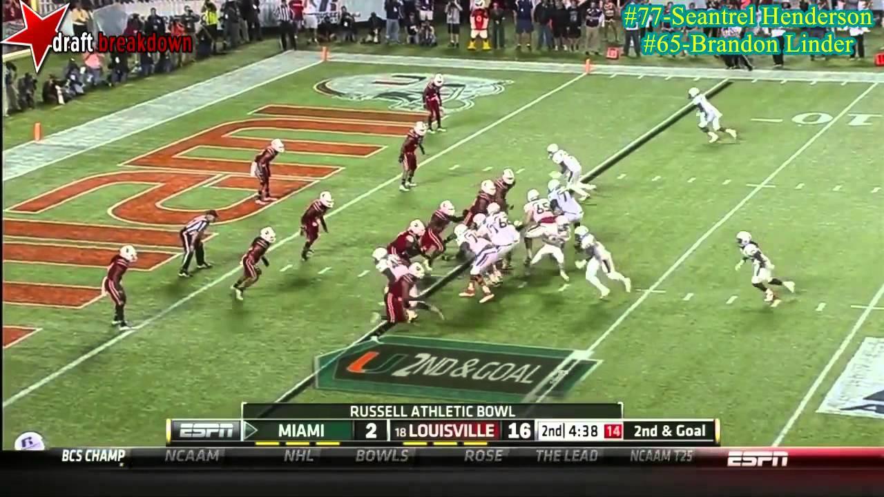 Brandon Linder vs Louisville (2013)