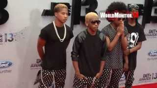 Mindless Behavior And J. Cole Arrive At 2013 BET Awards Red Carpet