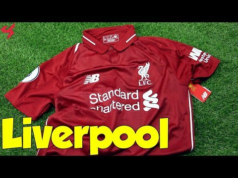 New Balance Liverpool FC M.Salah 2018/19 Home Soccer Jersey Unboxing + Review