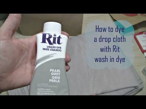 How To Dye A Drop Cloth / Canvas With Rit Wash In Dye