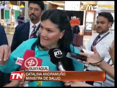 Ministra de salud constata protocolos de seguridad por coronavirus