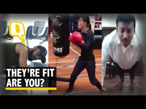 Watch: Rathore's Fitness Challenge is A Hit Among Celebrities  The Quint