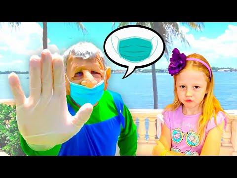 Nastya costura belas máscaras para amigos, por que éimportante usar uma máscara