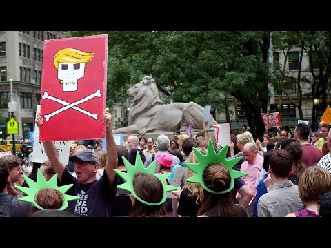 New Yorkers Stage Rowdy Anti-Fascist March to Greet Trump