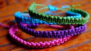 DIY Stackable Square Knot/Cobra Stitch Bracelets