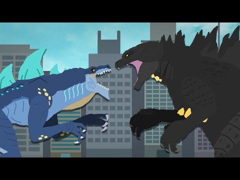 Godzilla vs Zilla Jr : The Final Battle (part 1/3) | DinoMania - Godzilla cartoons