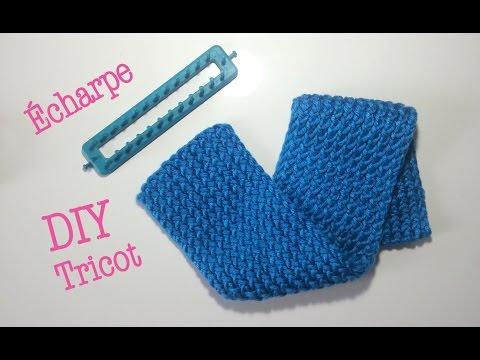 Diy tricot charpe avec m tier tisser - Comment terminer un tricotin ...