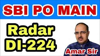Data Interpretation Questions-224 (Radar DI) SBI PO/IBPS PO Main #Amar Sir