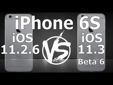 Tudocelular - iPhone 6S : iOS 11.3 Beta 6 vs iOS 11.2.6 Speed Test Build 15E5216a