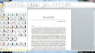 Word 2010 Themes and Styles