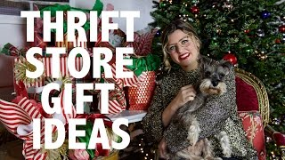 Thrift Store Gifts FTW!  Would you EVER do this? SUBSCRIBE for more! -  https://www.youtube.com/HeyMaryElizabethTWITTER -                       https://twitter.com/maryelizabethINSTAGRAM -                 https://instagram.com/heymaryelizabeth/SNAPCHAT -                   TotallyRadicalPINTEREST -                    https://www.pinterest.com/HeyMaryPins/WATCH MY RECENT COLLABORATIONS:a. Churro Ice Cream Sandwiches with Bake My Day:  http://bit.ly/ChurroIceCreamSandwichesb. HGTV Handmade:Budget Closet Makeover: http://bit.ly/2h5ySNCOversize Mistletoe: http://bit.ly/2i7mgVZShibori Ornaments:  http://bit.ly/2gGoj2oWHAT I'M WEARING:Gold Tinsel Sweater (ON MAJOR SALE):  http://rstyle.me/n/b9vkc2bqpf7Velvet Bow (Under $5): http://rstyle.me/n/b97uq9bqpfGlasses (From Thumbnail -- I don't even have a prescription!!):  http://rstyle.me/n/b9vknibqpMidi Black Slip: Vintage Thank you guys so much for watching!!  I hope this video is helpful for thrift and vintage shopping.  The key is to keep an open mind and go often – you never know what you can find!  These all came from around 4-5 trips to my local thrift stores.  I'd love to hear your thoughts on everything?  Does it freak you out or are you into it?  Does you feel different if the same item is $1.99 at the thrift store or $35 at the flea market or vintage shop?  Check out my Top 31 Thrift Store Tips Here:  http://bit.ly/2h5JbRMxoME