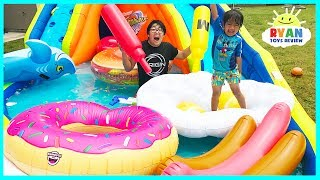 Giant Inflatable Water Slide for kids with Pool Party Giant Floats Food and Family Fun water toys with Ryan ToysReview! Ryan's Family had a fun with Inflatable Ride-ons floats like giant donut, giant hamburger, giant hotdog and more! There's also water toys like Disney Cars Lightning McQueen float, water balloons fight, kiddie pool, water helicopter toys and more! Great Kids Video for children who loves playing with inflatable water toys! Fun children activities for the whole family! Inflatable toys funhttps://www.youtube.com/playlist?list=PLasCX3wfxLR1Y2izsAUe1ofT0PfqAIJ7lWater Slide for Kids with Giant Shark H2O Go Inflatable Toys https://youtu.be/p96VMhi8yYk?list=PLasCX3wfxLR1Y2izsAUe1ofT0PfqAIJ7lFamily Fun Adventures Amusement Park Outdoor and Indoor playtime!https://www.youtube.com/playlist?list=PLasCX3wfxLR0fX5E3lWKSjts8rYVrmc-nPLAYING AT THE WATERPARKhttps://youtu.be/fW_I_9r7wN4?list=PLasCX3wfxLR3jUi6W_y8bSbaAJiYc9RAUFamily Fun Beach Water Slide for kids https://youtu.be/dQpOeGhRMaY?list=PLasCX3wfxLR3jUi6W_y8bSbaAJiYc9RAU RollerCoaster Water Slidehttps://youtu.be/GTKC22pt8HM?list=PLasCX3wfxLR3jUi6W_y8bSbaAJiYc9RAUFamily Fun in the Mickey Mouse Pool https://youtu.be/1AHTM1e0K9I?list=PLasCX3wfxLR3jUi6W_y8bSbaAJiYc9RAU