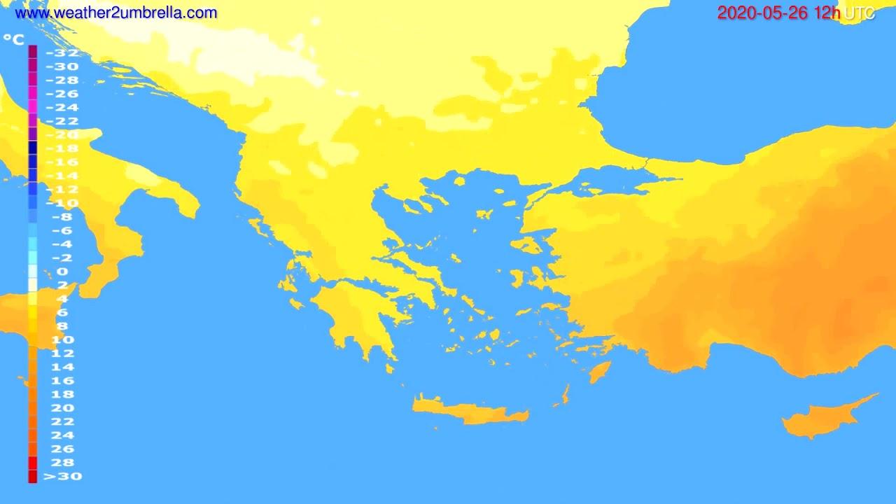 Temperature forecast Greece // modelrun: 00h UTC 2020-05-26