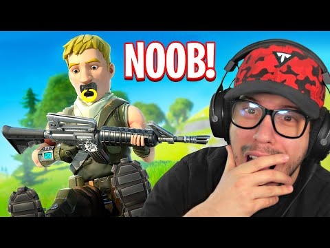 Typical Gamer REACTS to his FIRST GAME of Fortnite Battle Royale!