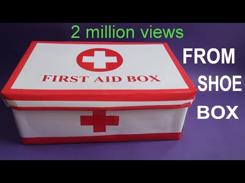 MAKE EASY FIRST AID BOX FROM SHOE BOX   FIRST AID kit FOR KIDS   BEST OUT OF WASTE   CREATIVE MOM