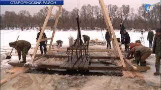 В Старорусском районе поднимают фрагменты советского истребителя времен Великой Отечественной войны