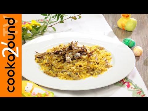 risotto ai carciofi e zafferano - ricetta