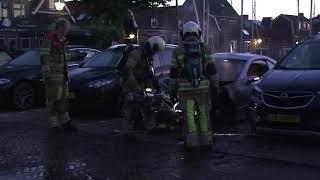 Autobrand op de Weikamp