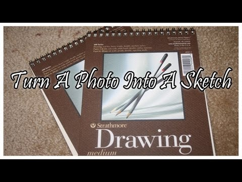 Photoshop Tutorial – Turn a Photo into a Sketch Drawing.