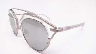 Buy them here : https://goo.gl/fB78PCClose up look at the Dior So Real sunglasses in color RMRLR, matte silver crystal with silver gradient mirrored lenses.Connect with usWebsite :  www.eyeheartshades.comFacebook : https://www.facebook.com/eyeheartshadesTwitter : https://twitter.com/eyeheartshadesInstagram : https://www.instagram.com/eyeheartshades/Pinterest : https://www.pinterest.com/eyeheartshades/Google Plus : https://plus.google.com/+EyeHeartShades/posts