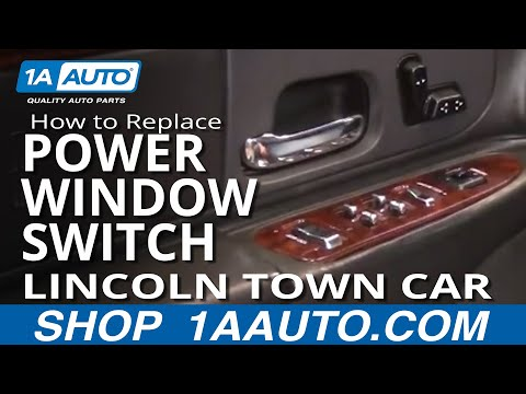How To Replace Repair Install Broken Driver Power Window Switch Lincoln Town Car 98-02 1AAuto.com