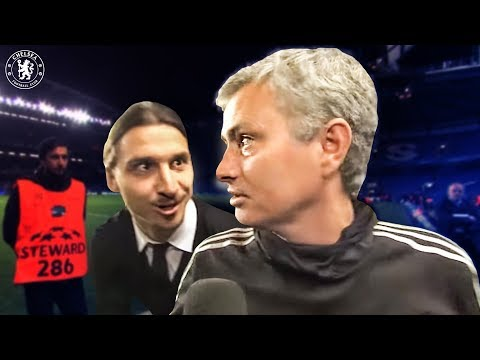 jose - Jose Mourinho was talking to Chelsea TV after our victory against PSG when he was surprised by a special guest - Zlatan Ibrahimovic. More on Chelsea TV... ht...