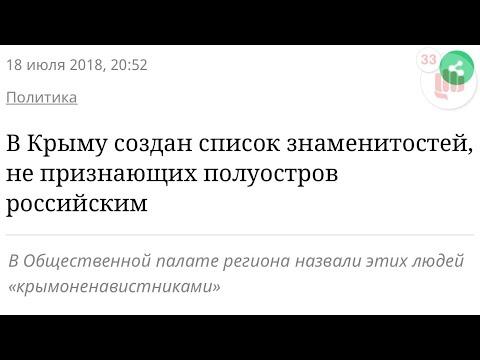 Крым Созданы списки «врагов» Крыма состоящий из известных деятелей культуры - DomaVideo.Ru
