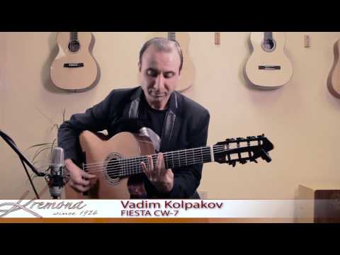 Vadim Kolpakov and his Kremona Fiesta 7 string guitar.