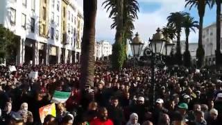 بالفيديو..الآلاف يشاركون في مسيرة النقابات التعليمية ضد الاعفاء و الترسيب
