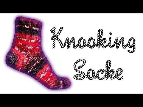 """""""Wooly Tricks"""" Socken Knooking Anleitung / Strickanleitung"""