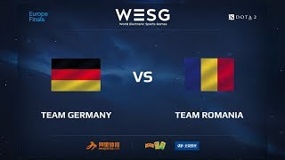 Team Germany vs Team Romania, WESG 2017 Dota 2 European Qualifier Finals