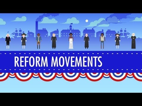 crashcourse - In which John Green teaches you about various reform movements in the 19th century United States. From Utopian societies to the Second Great Awakening to the...