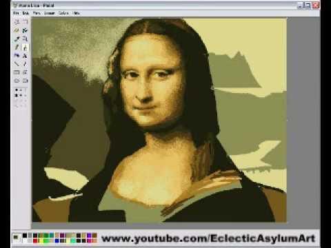 Photoshop不用學了,用小畫家就能畫出蒙娜麗莎!