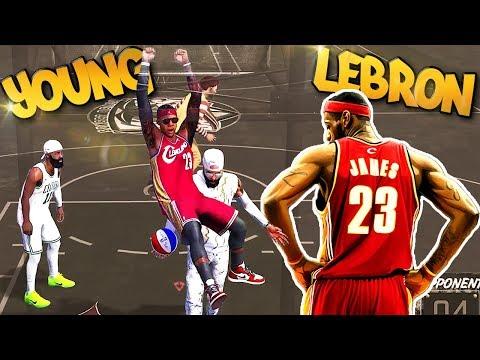 6'8 Young LeBron James Archetype - CRAZY BLOCKS! - NBA 2K18 3v3 Park (видео)