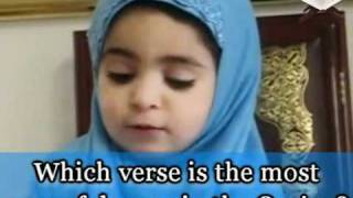 Cute Small Baby Girl Answering Questions About Islam! [must See!].flv