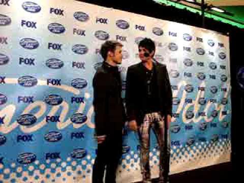 Adam Lambert, Kris Allen Post Show Radio PC