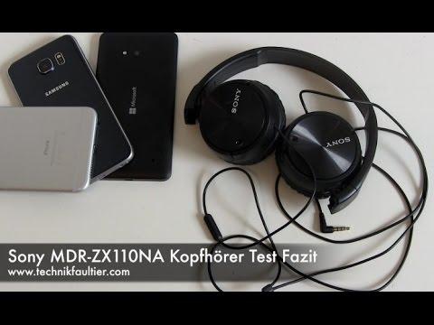 Sony MDR-ZX110NA Kopfhörer Test Fazit