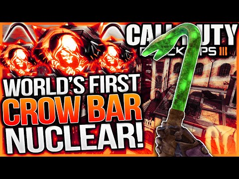 "Crow Bar Nuclear Gameplay! - Worlds First ""crow Bar"" Nuclear (bo3 Iron Jim Nuclear Dlc Melee Weapon)"