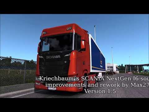 Improvements and rework NG SCANIA I6 sound v1.5