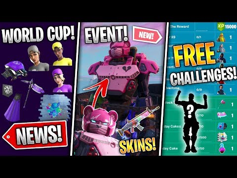 #FortniteEvent Mecha Skin, 12 Free Rewards, Locked Emote, New POI, World Cup Skins! - Fortnite News