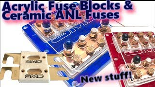 New Acrylic Quad XL2 Fuse Blocks and SMD Ceramic ANL Fuses | Great for Car Audio!
