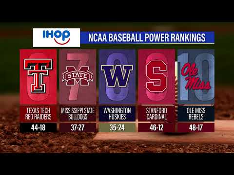 NCAA Baseball Power Rankings: June 12, 2018 on the Sports2Nite TV show
