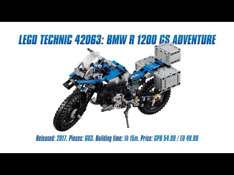 LEGO Technic 42063: BMW R 1200 GS Adventure Unboxing, Speed Build & Review [4K]