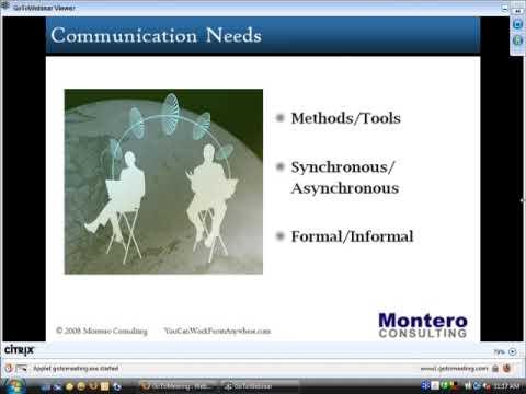 The Art of Virtual Leadership Part 1 Demo (Managing Virtual Teams) On-demand Webinar